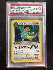 Team Rocket 1st Edition Dark Dragonite Holo PSA Auto Arita Signed Pokemon Card