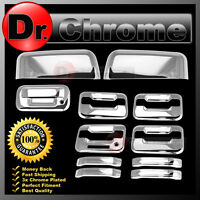 04-08 Ford F150 Chrome TOP HALF Mirror+4 Door Handle+keypad+no KH+Tailgate Cover