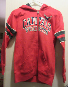 Washington Capitals youth hooded jacket size med