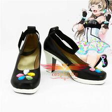 Love Live! Minami Kotori Cosplay Black Shoes Video Games Awakening Custom B2517