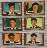 1955 Bowman 6 Card Umpire Lot