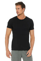 New Alo Yoga Mens Short Sleeve Crew Neck Soft Basic 100% Cotton T Shirt $54