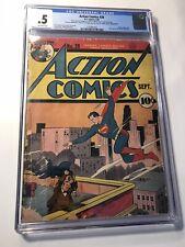 Action Comics #28 CGC 0.5 Golden Age DC Comic Book! RARE Superman (9/40) CLASSIC