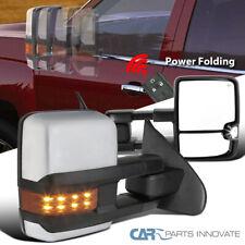 Para 14-18 Silverado Lateral Transparente Plegable De Energía Calentado Espejos de remolque + LED ámbar señal
