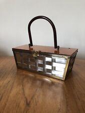 Vintage Original 1950s Etra Lucite Box Bag Handbag Nice Retro