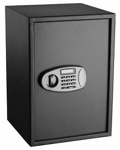 AdirOffice Black Steel 2.32 Cubic Mounting Digital Lock Security Deposit Safe