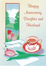 Anniversary Card with Envelope for Daughter & Husband