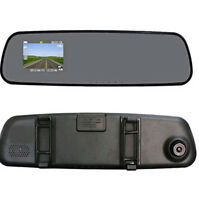 "2.4""HD CarRearview mirror CameraDashCamIRDVRCCTVNightVision Recorder"