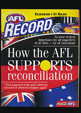 2000 AFL Football Record Essendon Bombers vs St Kilda May 26-28  unmarked