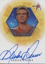 Star Trek 35th Anniversary Holofex Autograph Card A23 Rhodes Reason