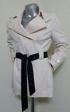 JouJou Women Coat Jacket Size L Cream White Beall's Winter Lined Waist Belt New