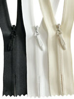 """23/"""" or 24/"""" Nylon Bridal//Gown Zipper Closed-End 18/"""" YKK #5 Conceal Invisible"""