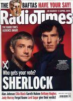 Radio Times 28 March 2015 ,Benedict Cumberbatch,Martin Freeman,Sherlock Holmes