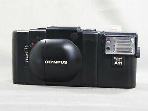 [Exc+4] Olympus XA Rangefinder Film camera + A11 Flash From JAPAN