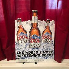 Coors Light Metal Beer Bottle Sign