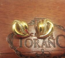 Vintage Christan Dior Gold Tone Clip-On Earrings