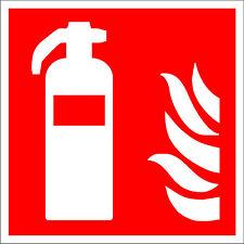 Brandschutzzeichen Feuerlöscher Schild Kunststoff selbstklebend nachleuchtend