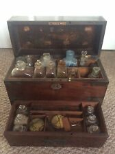 George III Apothocary Mahogany Brass Bound Box Medicine Medical Apothecary
