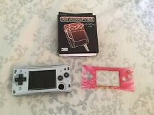 Nintendo Game Boy Micro w/ AC & 1 Face Plate - 2005 Silver OXY-001 TESTED