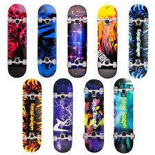 Unibest® Skateboard Deck Funboard Holzboard komplett 80x20cm Ahornholz Auswahl