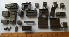 23 pcs Plastic Miniature Furniture General Store Western Cowboy Bunk House Guns
