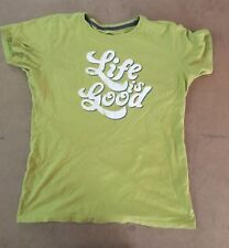 Life is Good Short Sleeve Tee Shirt Green Women's Medium Classic Fit