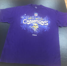 Men Large T Shirt 2009 NFC Champions Vikings Reebok