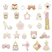 25pcs Mixed Enamel Plated Assorted Female Supplies Pendant Charms DIY Findings