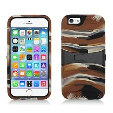 """For Apple Iphone 6 6s 4.7"""" Rugged Camo Hybrid Case Cover w Kickstand  Accessory"""