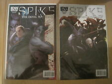 """SPIKE (BUFFY) : """"The DEVIL YOU KNOW""""  ISSUES 1 & 2 by WILLIAMS & CROSS. IDW.2010"""