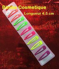 10 Pinces Epingle Barrette à Cheveux Clip Fluo Multicolore Coiffure Enfant Fille