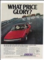 Red 1979 FIAT X1/9 Print Ad ~ Maserati, Ferrari, Lamborghini, Lotus Esprit