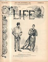 1892 Life September 29 - Stop cholera by stopping immigration; Why I am single