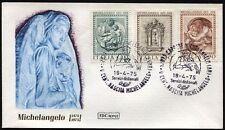 1975 - Michelangelo Buonarroti - nn.1289/1291 -  Busta FDC