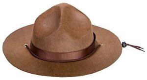 Kangaroo Adult Canadian Mountie Hat, Park Ranger Hat or Drill Sergeant Brown Hat