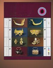 2007 THAILAND QUEEN'S COLLECTION SS MNH  ROYAL BARGE GOLD NIELLO BAG SCT 2366a