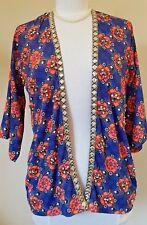 RIVER ISLAND bat wing shrug style jeweled jacket Size 8