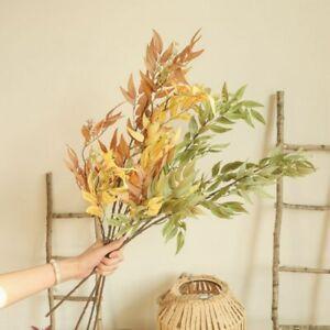 1pc Bamboo Leaf Branch Artificial Flower for Floral Arrangement Material Home De