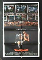 "1983 ""WAR GAMES"" 27"" x 41"" Movie Poster Matthew Broderick Dabney Coleman Sheedy"