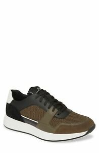 Calvin Klein Men Athletic Fashion Sneakers Dudley US 9M Black Camouflage Suede