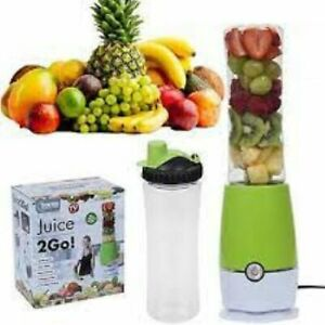 Home Connection 2GO Electric Juicer with Portable Bottle | Sports Drink Blender