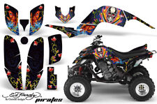 ATV Decal Graphic Kit Quad Sticker Wrap For Yamaha Raptor 660 2001-2005 EDHP BLU