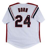 "Corbin Bernsen Major League ""Dorn"" Signed White Pro Style Jersey BAS Witnessed"