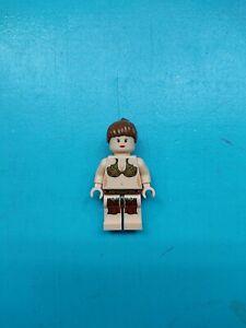 Lego Star Wars Minifigure Princess Leia Light Nougat Jabba Slave Outfit 6210!
