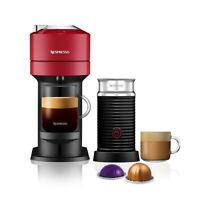 Nespresso Vertuo Next Cherry Red Coffee Machine & Aeroccino3 Frother