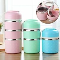 Kids Lunch Box Portable Stainless Steel Thermal Bento Leak Proof Food Container