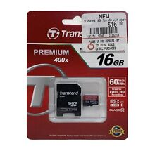 Transcend 16GB Class 10 MicroSDHC Card Premium 400X Speed- TS16GUSDU1