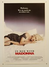 "TRUTH OR DARE - MADONNA - VINTAGE 1991 GERMAN MOVIE POSTER 23X33"" SEXY IN BED"