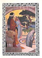 El romance. belleza. poesía. 1930. Rene Bull. persa. mil Y Una Noches. arte romántico.
