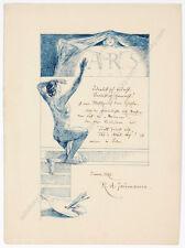 """""""Art Nouveau Poster Design"""" by Ruldolf A. Jaumann, 1897"""